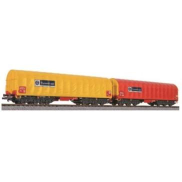 Liliput 230153 2-tlg. Set Coiltransportwagen, Sahimms-u, ThyssenKrupp, Ep.VI