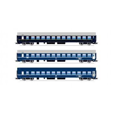 Rivarossi HR4169 3-teiliges Schlafwagen-Set, Typ MU der FS