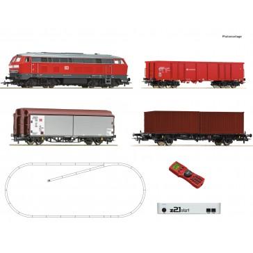 Roco 51312 z21 Set Diesellok BR 218 + GZ