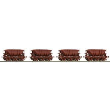 Roco 67075 4er Set Erzwagen mit Erz