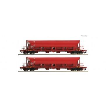 Roco 67087 2er Set Selbstentladewagen DB-A