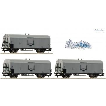 Roco 67118 Set: Milchwagen 3-tlg