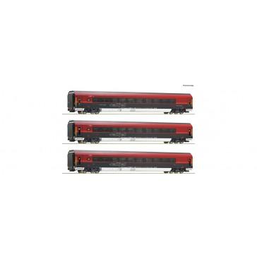 Roco 74087 3-tlg Set Railjet DCC