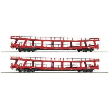 Roco 74128 2er Set Autotransportwagen