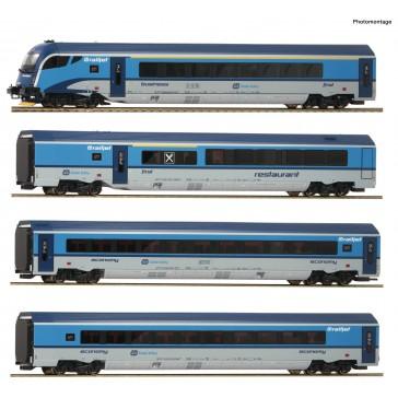 Roco 74142 4er Set Railjet CD DC