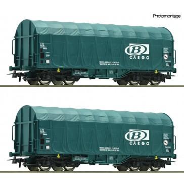 Roco 76071 2er Set Schiebeplanenwagen B Ca
