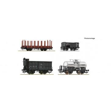 Roco 76077 4er Set Güterwagen SS
