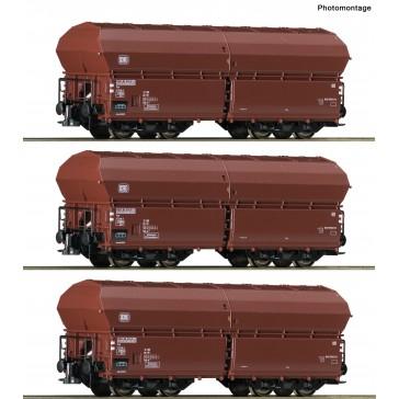 Roco 76079 3er Set Klappdeckelwagen DB