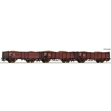 Roco 76081 3er Set Off. Güterwagen+Rübe