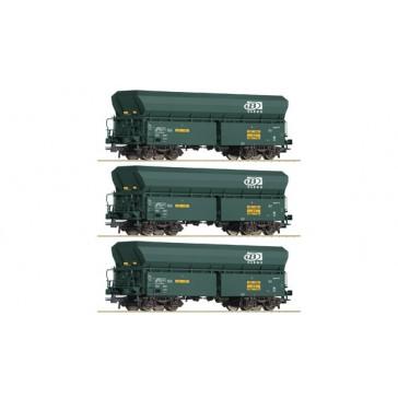Roco 76132 3-tlg. Selbstentladewagen, SNCB epoche 6