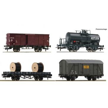 Roco 76134 4-tlg. Set: Güterwagen, NS epoche 3