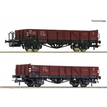 Roco 76281 2er Set Off.GüterwagenLinz,braun