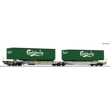 Roco 76432 Doppeltwagen T2000+Carlsberg