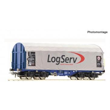 Roco 76451 Schiebeplanenwagen Logserv