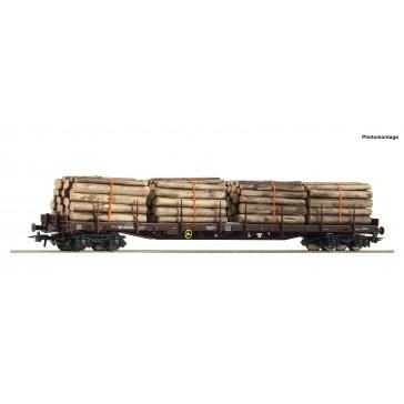Roco 76574 Rungenwagen 4a.+Holzbeladung