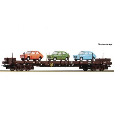 Roco 76779 Rungenwagen mit Steyr beladen, ÖBB epoche 4