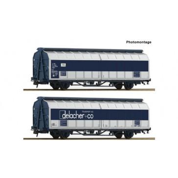 Roco 76877 Schiebewandwagen-Doppeleinheit delacher+co , ÖBB epoche 6