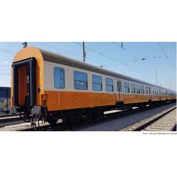 Tillig 01022 Reisezugwagenset Museums-Städteexpress Erfurter Bahnservice GmbH 2, bestehend aus zwei Reisezugwagen, Bauart Halberstadt, Ep. VI