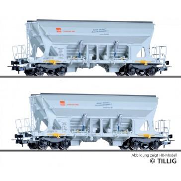 Tillig 01039 Güterwagenset der HVLE, bestehend aus zwei Selbstentladewagen Faccns, Ep. VI -FORMNEUHEIT-