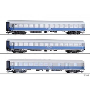 Tillig 01041 Reisezugwagenset Train Militaire Francais de Berlin 2, bestehend aus drei Reisezugwagen, Ep. IV