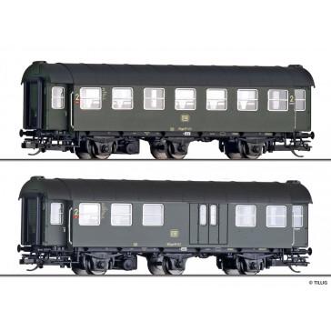 Tillig 01051 Reisezugwagen-Paar 2. Klasse/2. Klasse mit Packabteil der DB, Ep. IV