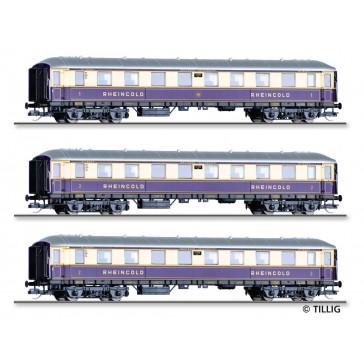 Tillig 01784 Personenwagenset Rheingold-Express der DRG, bestehend aus 3 Reisezugwagen, Ep. II