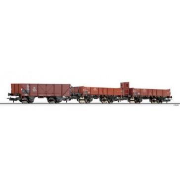 Tillig 74188 Offene Güterwagen Set DB