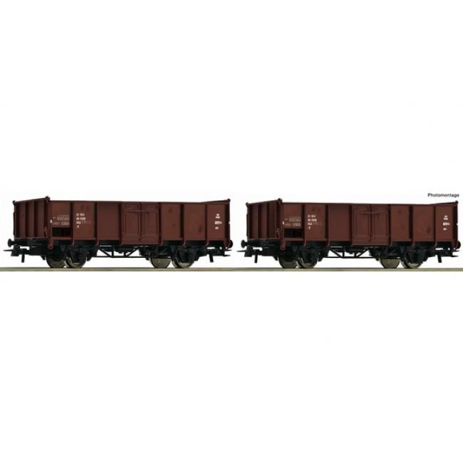 Bauart El Roco H0 76125 Set offene Güterwagen DSB Epoche IV /_ NEU