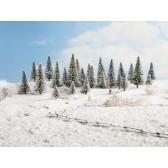 Noch 26929 Schneetannen, 5 Stück, 5 - 9 cm hoch