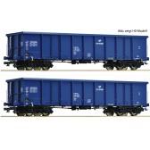 Roco 37646 2er Set Güterwagen  Eanos PKP blau