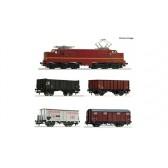 Roco 61459 5-tlg. Set: Elektrolokomotive 1224 mit Güterzug, NS epoche 3