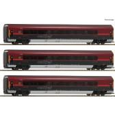 Roco 64191 3-tlg Set Railjet DC
