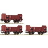 Roco 67145 3-tlg Set off. Güterwagen FS