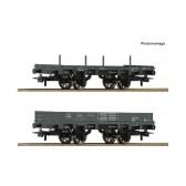 Roco 67160 2-tlg. Set: Offene Güterwagen, KKStB epoche 1