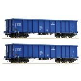 Roco 67193 Set:2-tlg.Off.Güterwagen4a.