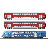 Roco 74155 3er Set Doppelstock Bayern DC
