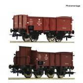 Roco 76069 2er Set Off.Güterwagenbraun