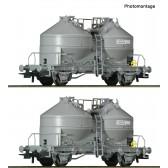 Roco 76072 2er Set Silowagen SNCB
