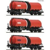 Roco 76088 3er Set Knickkesselwagen GATX