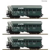 Roco 76092 3er Set Selbstentladewagen VTG