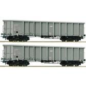 Roco 76099 2-tlg. Set: Offene Güterwagen, AWT