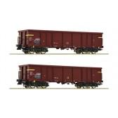 Roco 76127 2-tlg. Set: Offene Güterwagen, FS epoche 4