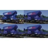 Roco 76137 4er Railpro H20 Schotterwagen