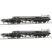 Roco 76195 Set Rungenwagen Schienenbeladung