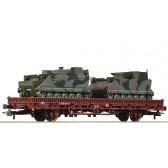 Roco 76390 Rungenwagen mit Panzer, DB AG epoche 5