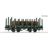 Roco 76774 Rungenwagen + Holzfässer