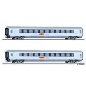 Tillig 01023 Reisezugwagenset Metropolitan 2 der DB AG, bestehend aus zwei Reisezugwagen, Ep. V