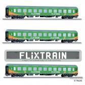 Tillig 01030 Reisezugwagenset Flixtrain, bestehend aus drei Reisezugwagen, Bauart Halberstadt, Ep. VI