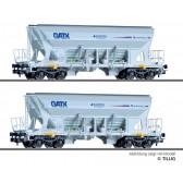 Tillig 01040 Güterwagenset der GATX/EUROVIA, bestehend aus zwei Selbstentladewagen Faccns, Ep. VI -FORMNEUHEIT-