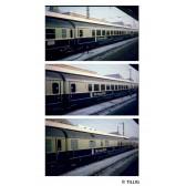 Tillig 01042 Set Ausstellungszug: Die neue Bahn 1985 der DB, bestehend aus drei Reisezugwagen, Ep. IV